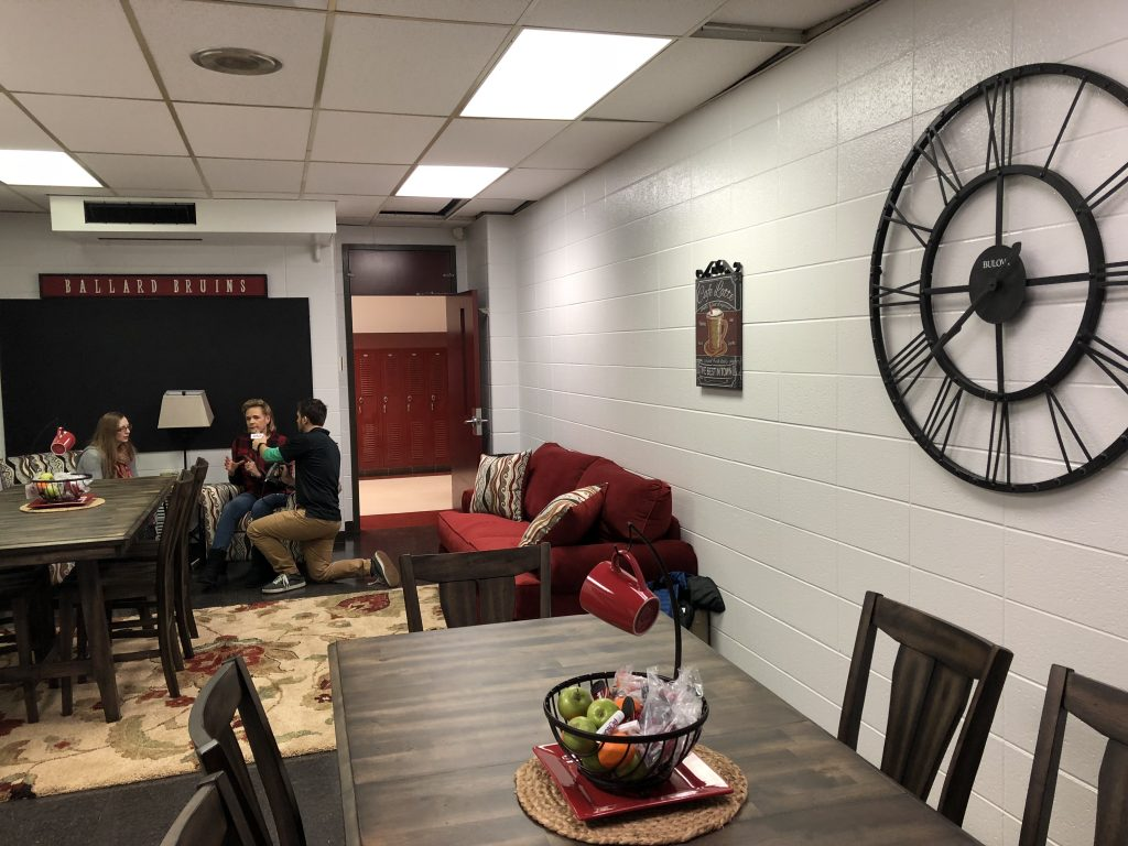 Teachers lounge at a school