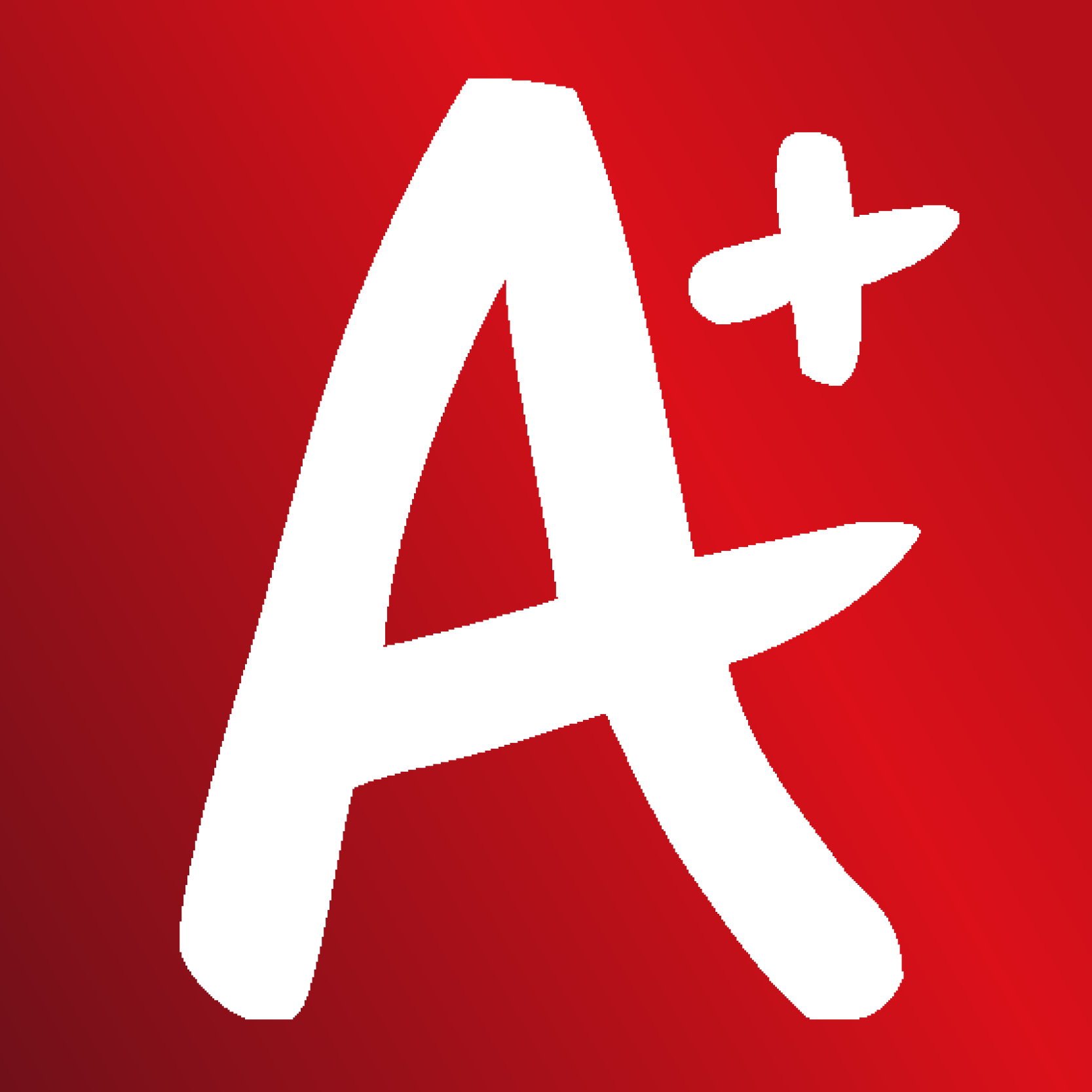 A+ logo new - gradient red background