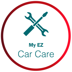 My EZ Car Card with tools icon in red circle