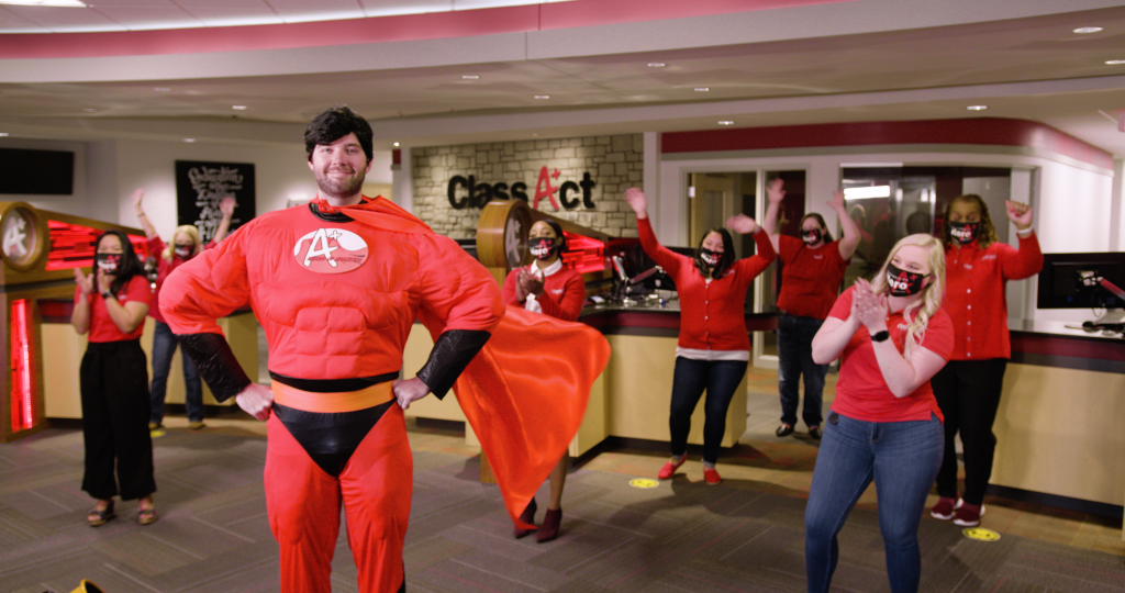 Super hero at the Class Act branch